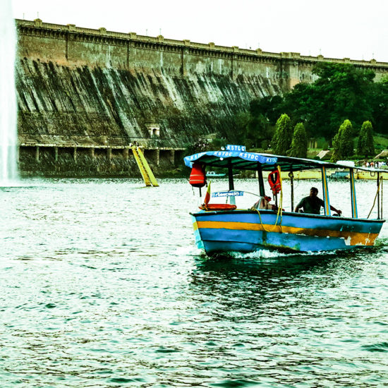 Boating By KRS Dam