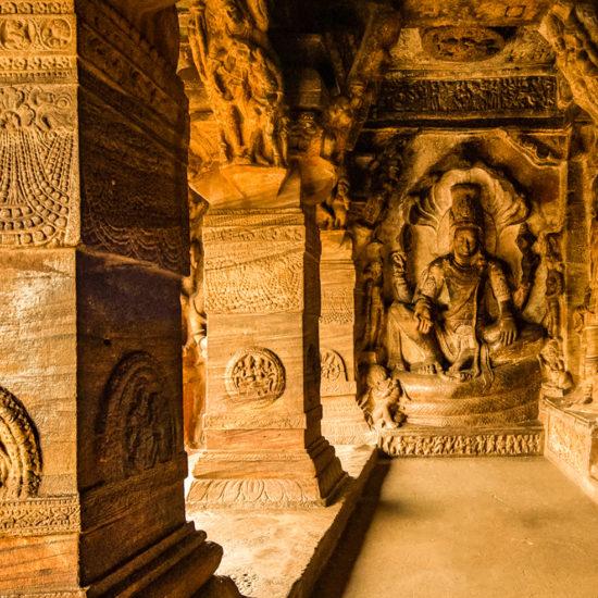 Lord Vishnu on Sheshnaga - Badami Cave no 3