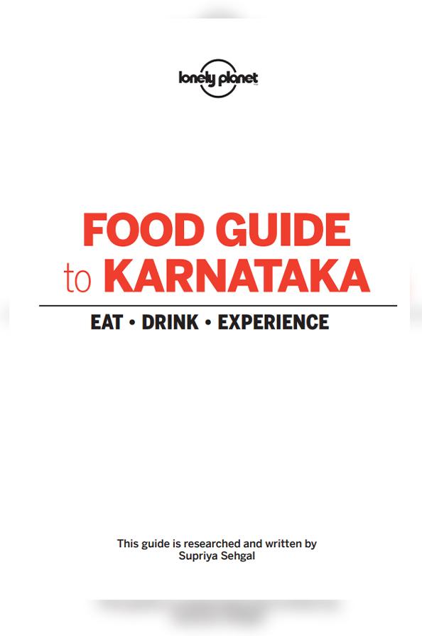 Food Guide to Karnataka